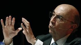 Ex-presidente do Banco Central Henrique Meirelles em evento organizado pela Reuters em maio de 2012. 25/05/2012. REUTERS/Paulo Whitaker