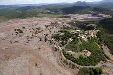 Vista de Bento Rodrigues após rompimento de barreiras. 10/11/2015 REUTERS/Ricardo Moraes