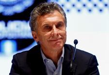 Candidato à Presidência da Argentina Mauricio Macri participa de cerimônia em Buenos Aires. 28/10/2015 REUTERS/Marcos Brindicci