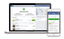 """Un portátil y un celular muestran la opción de """"comprobación de seguridad"""" de Facebook. Facebook activó su opción de """"comprobación de seguridad"""" después de las explosiones mortales en Nigeria producidas a última hora del martes, tras las críticas de los usuarios de que la red social estaba siendo selectiva sobre la implementación de la función. REUTERS/Facebook"""