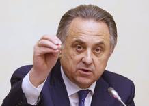 Ministro dos Esportes da Rússia, Vitaly Mutko, durante evento em Moscou.   16/11/2015    REUTERS/Maxim Zmeyev