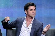 """Cast members John Stamos participates in the FOX """"Grandfathered"""" panel at the Television Critics Association (TCA) Summer 2015 Press Tour in Beverly Hills, California August 6, 2015.  REUTERS/Jonathan Alcorn"""