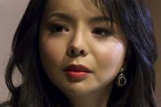 Miss World Canada Anastasia Lin attends a news conference in Hong Kong, China November 27, 2015. REUTERS/Tyrone Siu