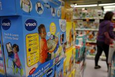 VTech's products are seen on display at a toy store in Hong Kong, China November 30, 2015. REUTERS/Tyrone Siu
