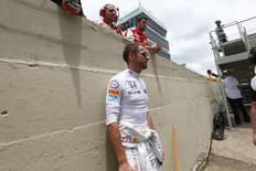 Formula One - F1 - Brazilian Grand Prix 2015 - Autodromo Jose Carlos Pace, Sao Paulo, Brazil - 15/11/15 McLaren's Jenson Button before the race Mandatory Credit: Action Images / Hoch Zwei Livepic