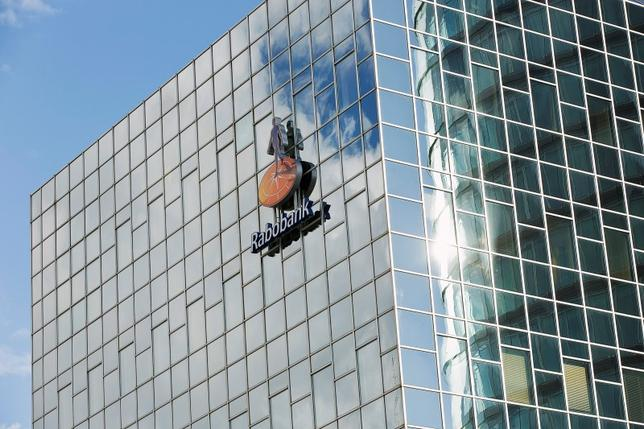 The logo of Rabobank is seen on the building of its headquarters in Utrecht October 30, 2013. REUTERS/Michael Kooren