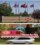 Dow Chemical et DuPont ont annoncé vendredi un accord de fusion créant un géant de la chimie à la capitalisation dépassant les 130 milliards de dollars (118,4 milliards d'euros). /Photos d'archives/Rebecca Cook/Tim Shaffer