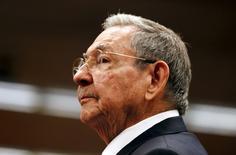 Cuba's President Raul Castro attends a ceremony at the Palace of the Revolution in Havana September 29, 2015. REUTERS/Enrique de la Osa