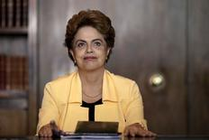 Brazil's President Dilma Rousseff looks on during a meeting with mayors at the Alvorada Palace in Brasilia, Brazil, December 14, 2015. REUTERS/Ueslei Marcelino      TPX IMAGES OF THE DAY