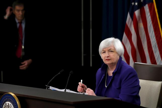 U.S. Federal Reserve Chairman Janet Yellen listens to a reporter's question during a news conference in Washington December 16, 2015. REUTERS/Jonathan Ernst -