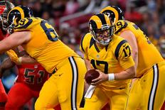 Dec 17, 2015; St. Louis, MO, USA; St. Louis Rams quarterback Case Keenum (17) drops back on a play in the game against the Tampa Bay Buccaneers during the second half at the Edward Jones Dome. Mandatory Credit: Jasen Vinlove-USA TODAY Sports