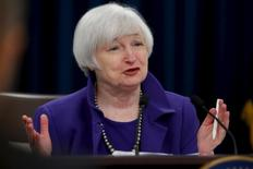 U.S. Federal Reserve Chairman Janet Yellen holds a news conference to announce raised interest rates in Washington December 16, 2015.  REUTERS/Jonathan Ernst