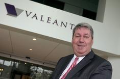 Michael Pearson, chairman of the board and chief executive officer of Valeant Pharmaceuticals International Inc, poses following their annual general meeting in Laval, Quebec in this May 19, 2015, file photo.    REUTERS/Christinne Muschi/Files