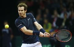 Andy Murray durante partida da Copa Davis, na Bélgica .   29/11/2015 Action Images via Reuters / Jason Cairnduff Livepic