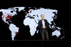 Reed Hastings, cofundador y presidente ejecutivo de Netflix, durante una intervención en la Feria Electrónica de Las Vegas 2016, Nevada, Estados Unidos, 6 de enero de 2016.  REUTERS/Steve Marcus
