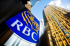 A Royal Bank of Canada logo is seen on Bay Street in the heart of the financial district in Toronto, January 22, 2015. RBC last January said it would buy City National Corp, a U.S. lender serving high net worth clients, in a $5.4 billion deal that marks the latest move by Canada's major banks to expand their wealth management operations abroad. REUTERS/Mark Blinch