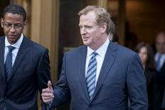 NFL Commissioner Roger Goodell exits the Manhattan Federal Courthouse in New York August 12, 2015.  REUTERS/Darren Ornitz