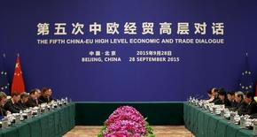 File photo of the the fifth China-EU high level economic and trade dialogue at Diaoyutai State Guesthouse in Beijing, China, September 28, 2015.REUTERS/Kim Kyung-Hoon
