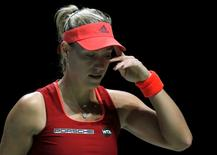 Tennis - BNP Paribas WTA Finals - Singapore Indoor Stadium, Singapore Sports Hub - 30/10/15 Germany's Angelique Kerber looks dejected during the round robin match Action Images via Reuters / Jeremy Lee Livepic