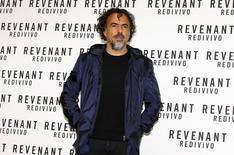 """Director Alejandro Gonzalez Inarritu poses during a photo call for the movie """"The Revenant"""" in Rome, Italy January 16, 2016. REUTERS/Tony Gentile"""