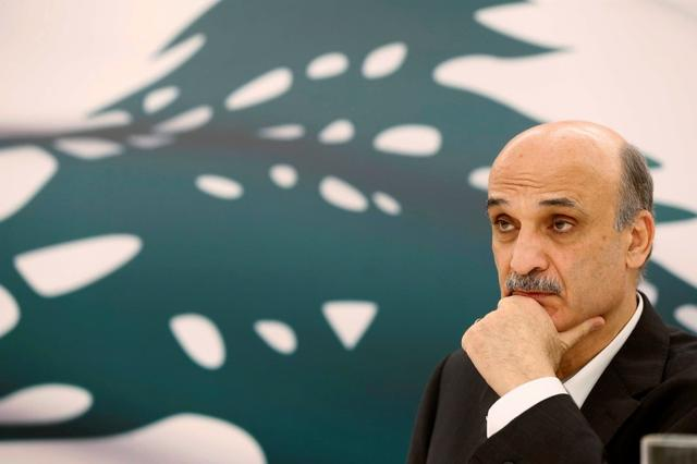 Samir Geagea, leader of the Christian Lebanese Forces, listens during an interview with Reuters at his home in the Christian village of Maarab in the mountains overlooking the seaside town of Jounieh, October 31, 2014. REUTERS/Mohamed Azakir