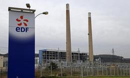 """EDF estime que ses parts de marché dans l'électricité en France devraient subir une baisse """"sensible"""" d'ici à 2019 et fait l'hypothèse pour la même période d'une hausse de 2,5% par an des tarifs réglementés pour les particuliers, selon un document obtenu par Reuters. /Photo prise le 18 janvier 2016/REUTERS/Jacky Naegelen"""