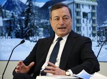Draghi, em Davos 22/1/2016 REUTERS/Ruben Sprich