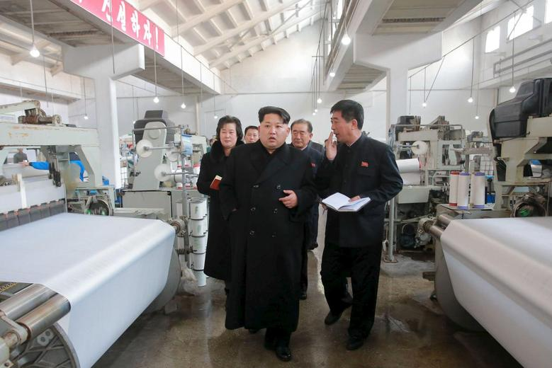 North Korean leader Kim Jong Un provides field guidance to the Kim Jong Suk Pyongyang Textile Mill, in this undated file photo released by North Korea's Korean Central News Agency (KCNA) in Pyongyang on January 28, 2016. REUTERS/KCNA