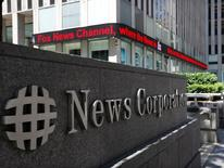 News Corp, qui a annoncé une baisse de son chiffre d'affaires pour le quatrième trimestre consécutif, à suivre vendredi sur les marchés américains. /Photo d'archives/REUTERS/Brendan McDermid