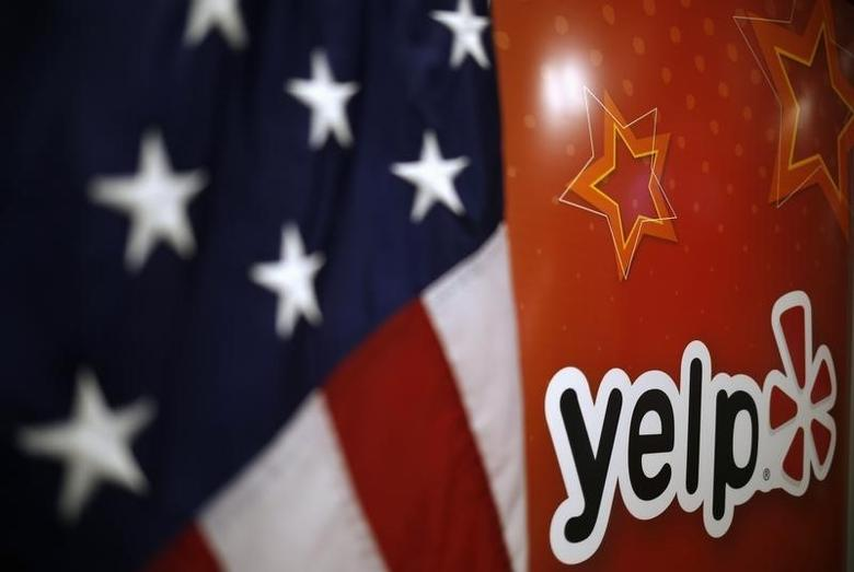 The Yelp Inc. logo is seen in their offices in Chicago, Illinois, March 5, 2015. REUTERS/Jim Young