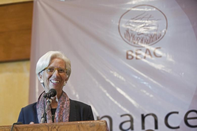 International Monetary Fund (IMF) Managing Director Christine Lagarde speaks during a roundtable with CEMAC Ministers of Finance at the Hilton Hotel in Yaounde, Cameroon January 8, 2016. REUTERS/Stephen Jaffe/IMF Staff Photo/Handout via Reuters