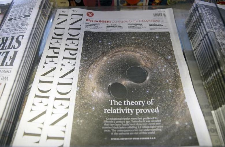 Copies of ''The Independent'' newspaper are displayed for sale at a store in London, Britain February 12, 2016.  REUTERS/Neil Hall
