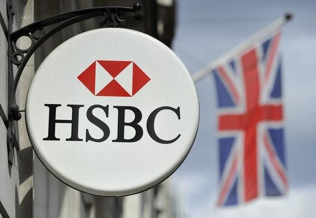 2月15日、英金融大手HSBCホールディングスは、グループの本拠に関する見直し作業の結果、引き続き英国を本拠とすることを決定した。ロンドンで2010年8月撮影(2016年 ロイター/Toby Melville)