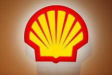 The logo of Shell is pictured at the 26th World Gas Conference in Paris, France, June 2, 2015.  REUTERS/Benoit Tessier