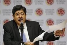 Ex-presidente da federação colombiana de futebol Luis Bedoya, em Bogotá. 01/06/2015 REUTERS/John Vizcaino