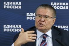 El ministro de Economía de Rusia, Alexei Ulyukayev, en una rueda de prensa en Moscú, feb 5, 2016. Un plan del gobierno ruso para apuntalar a su economía afectada por la recesión costará cerca de 880.000 millones de rublos (11.700 millones de dólares), dijo el ministro de Economía, Alexei Ulyukayev, en una reunión de gabinete el jueves.  REUTERS/Maxim Zmeyev
