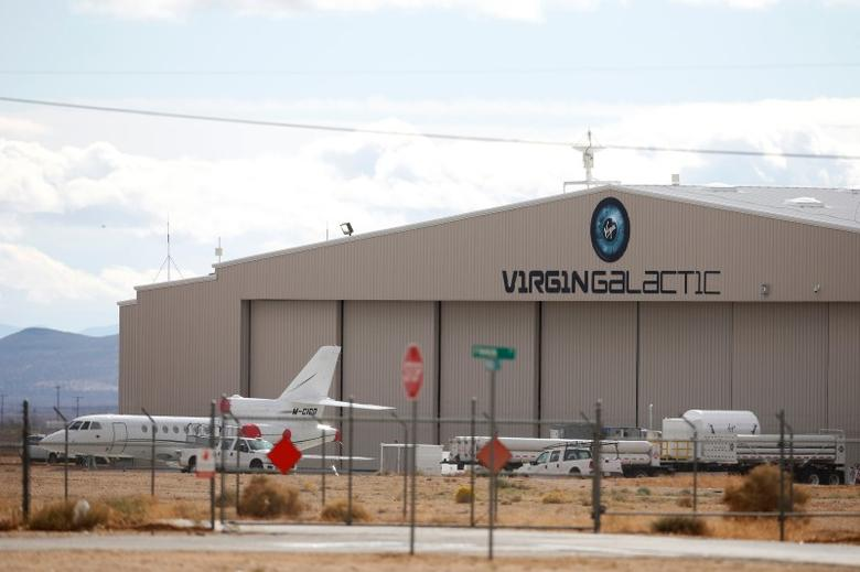 The Virgin Galactic hanger is seen at Mojave airport in Mojave, California November 1, 2014. REUTERS/Lucy Nicholson