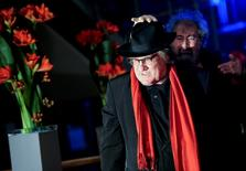 Actor Gerard Depardieu arrives for the screening of the movie 'Saint Amour' at the 66th Berlinale International Film Festival in Berlin, Germany February 19, 2016. REUTERS/Stefanie Loos