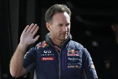 Red Bull Team Principal Christian Horner arrives for practice. Reuters/Max Rossi
