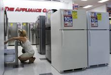 A woman shops for refrigerators at a store in New York in this file photo taken on July 28, 2010. REUTERS/Shannon Stapleton