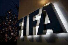 Logo da Fifa em sua sede em Zurique. 17/12/2015. REUTERS/Ruben Sprich