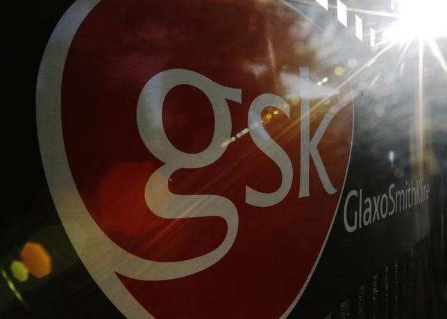 The signage for the GlaxoSmithKline building is pictured in Hounslow, west London June 18, 2013.REUTERS/Luke MacGregor