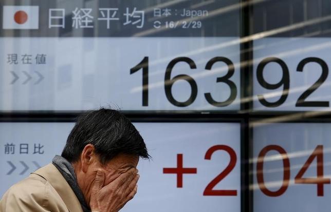 2月29日、20カ国財務相・中央銀行総裁会議(G20)の声明に、市場の反応は冷ややかだ。写真は都内で撮影(2016年 ロイター/Yuya Shino)