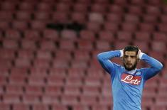 Lorenzo Insigne, do Napoli, durante partida contra o Napoli pela Liga Europa. 25/02/2016 REUTERS/Max Rossi