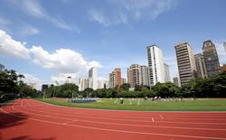 A general view of the athletics track of Pinheiros club, where the Chinese Olympic team will be training before the Rio Olympics, in Sao Paulo, Brazil, February 1, 2016. REUTERS/Paulo Whitaker