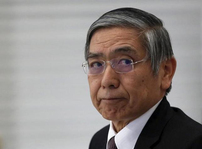 3月4日、黒田東彦日銀総裁は午後の参院予算委員会で、マイナス金利政策について、為替相場を目的としたものではないとの認識を示した。藤巻健史(おおさか維新)委員の質問に答えた。写真は都内で2月撮影(2016年 ロイター/Yuya Shino)