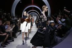 Models present creations by Swiss designers Serge Ruffieux and Lucie Meier as part of their Fall/Winter 2016/2017 women's ready-to-wear collection show for fashion house Dior in Paris, France, March 4, 2016. REUTERS/Benoit Tessier