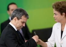 Wellington César durante nomeação no Palácio do Planalto. 3/3/2016. REUTERS/Adriano Machado