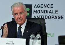 Newly elected World Anti-Doping Agency (WADA) President Craig Reedie gestures during the 2013 World Conference on Doping in Sports in Johannesburg November 15, 2013.  REUTERS/Stringer