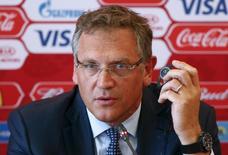 Ex-secretário-geral da Fifa Jérôme Valcke durante evento na Rússia.    10/06/2015      REUTERS/Maxim Zmeyev